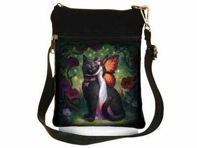 Bolso Hada con Gato Negro