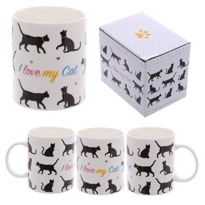 Taza Siluetas de Gatos