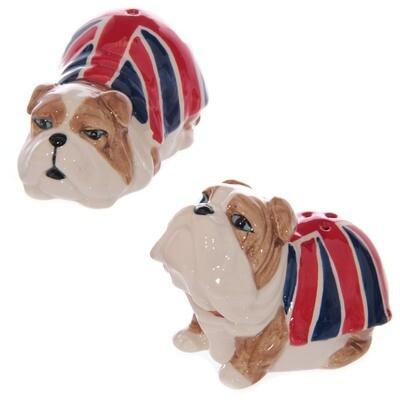 Set de Salero y Pimentero Perro Bulldog Inglés