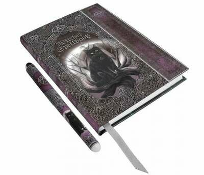 Cuaderno y Bolígrafo Gato Witches Spell Book