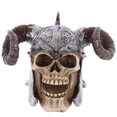 Calavera con Casco de Vikingo