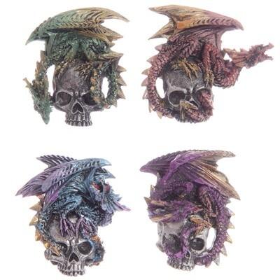 Imán Dragón en Calavera
