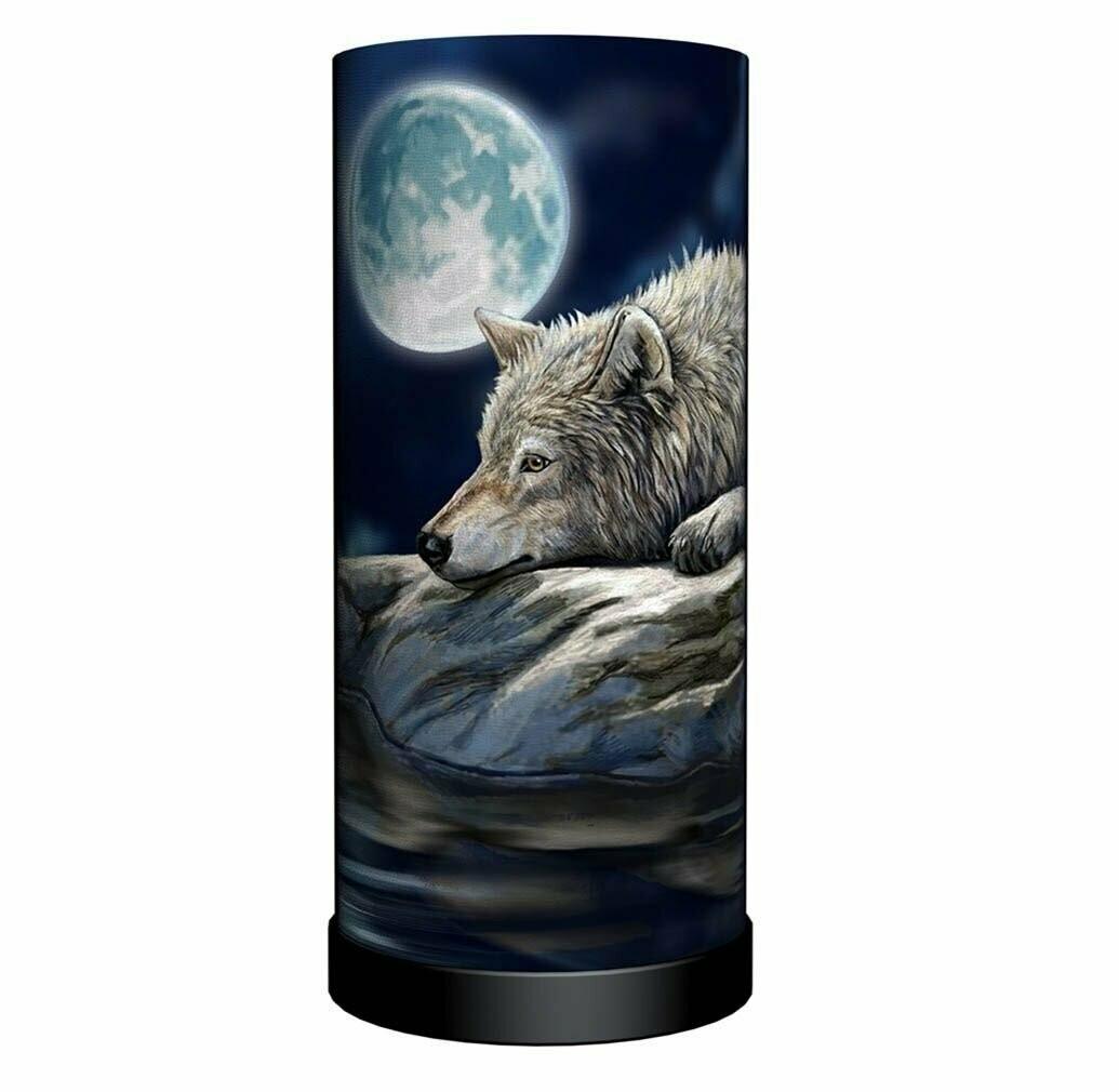 Lámapara Lobo en Luna Llena