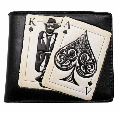 Cartera Relieve Cartas Las Vegas