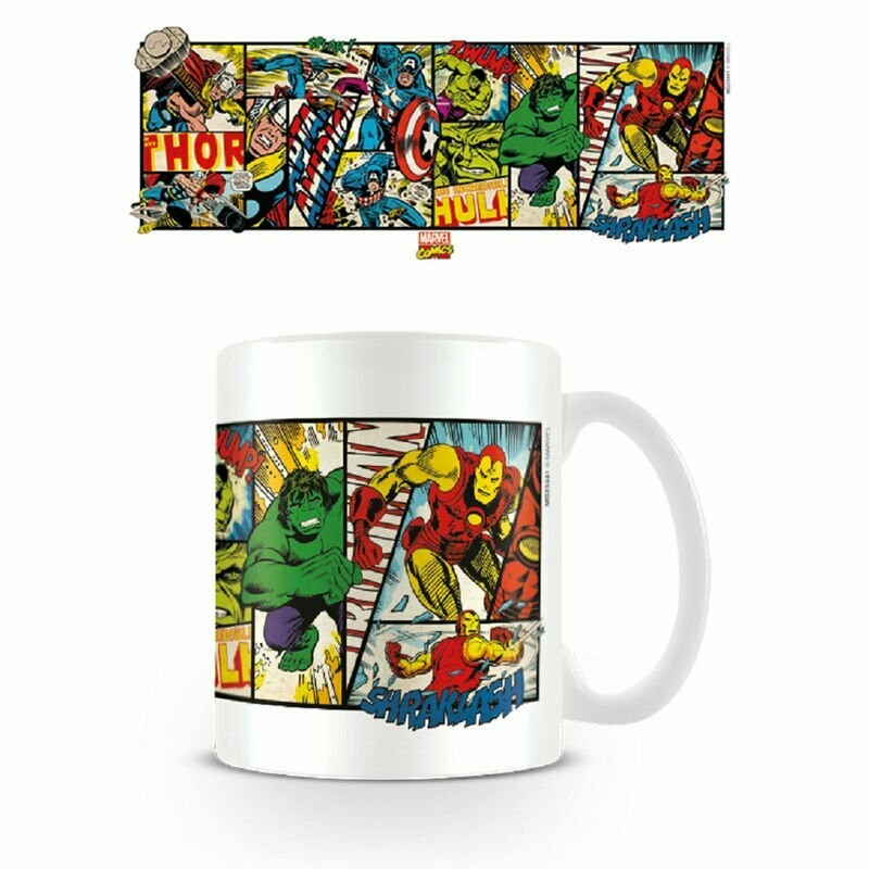 Taza Marvel Comics Retro