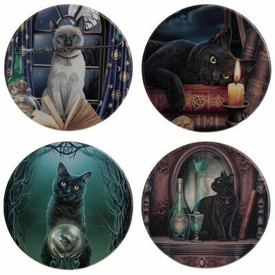 Set de 4 Posavasos Gatos