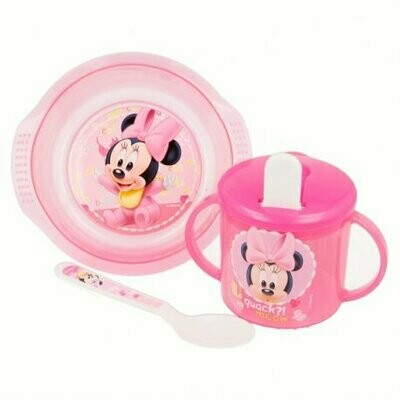 Set Cuenco, Taza Entrenamiento y Cuchara Minnie
