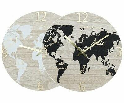 Reloj de Pared Mapa Mundi