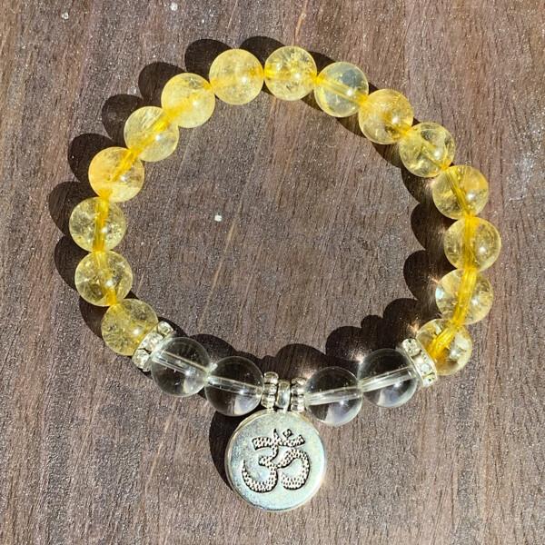 Citrine & Quartz Crystal Healing Bracelets