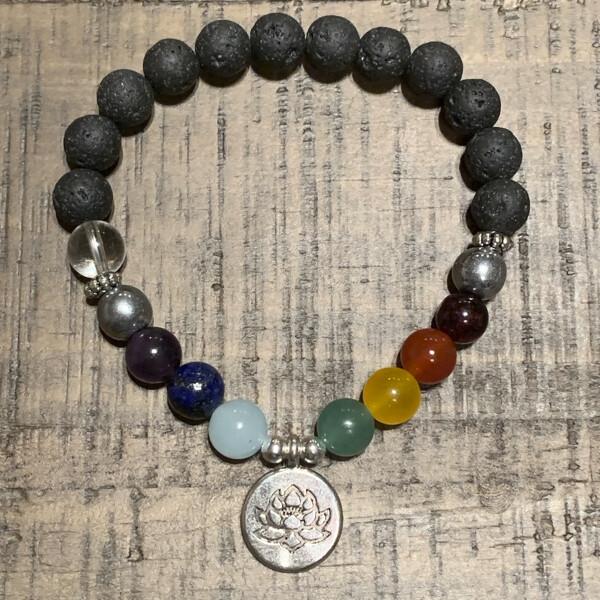 Silver Lotus-Chakra Balancing Bracelet