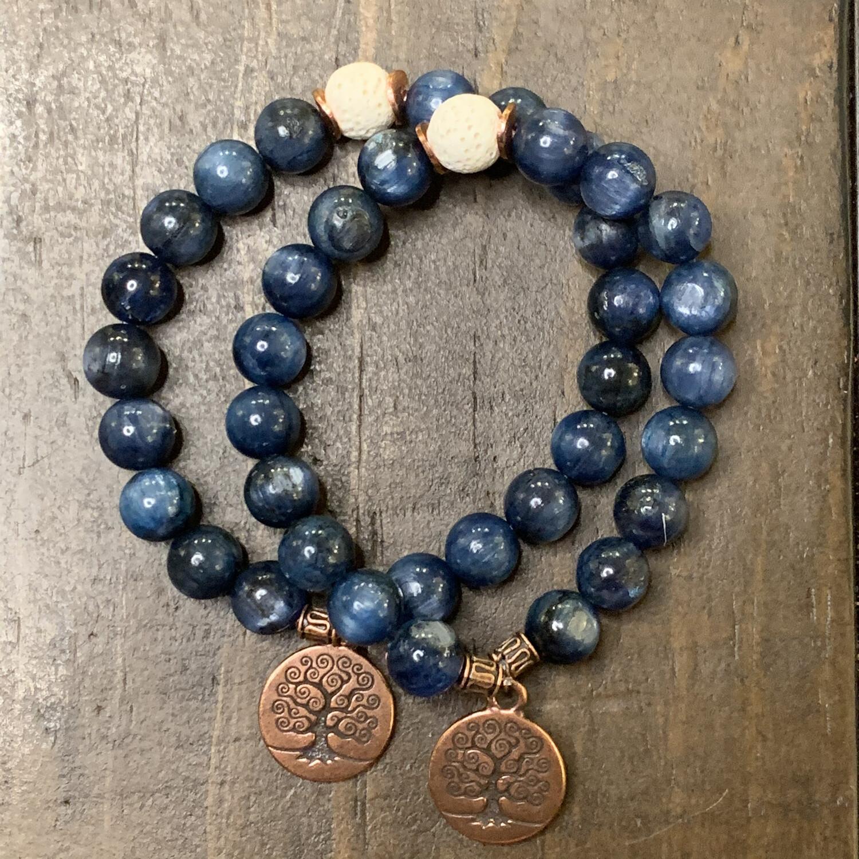Kyanite Tree of Life Bracelet