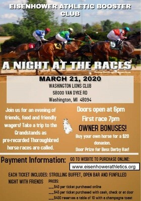 Admission Ticket for Night At The Races