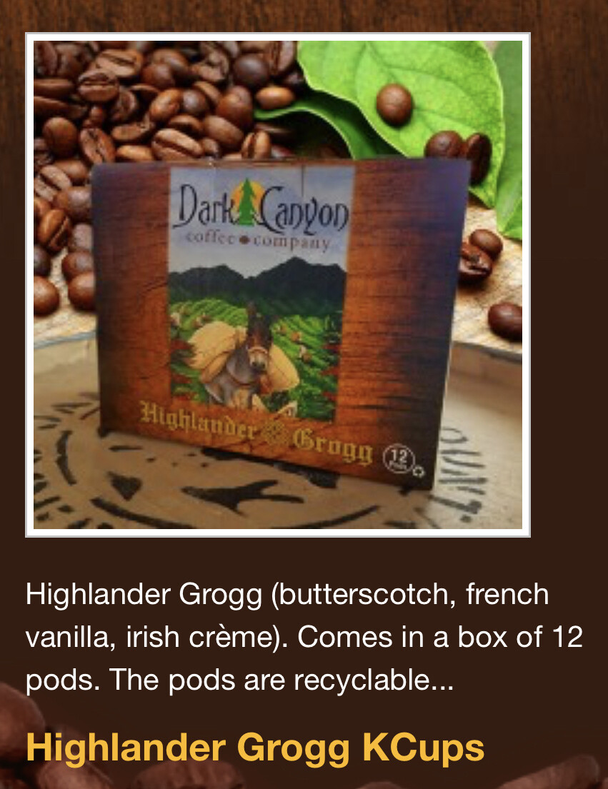 Highlander Grogg Coffee - K-Cups