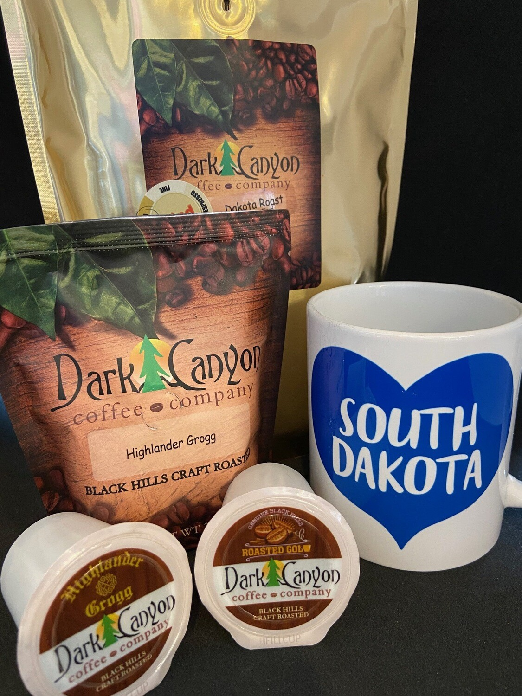 South Dakota Mug + Coffee Gift Set
