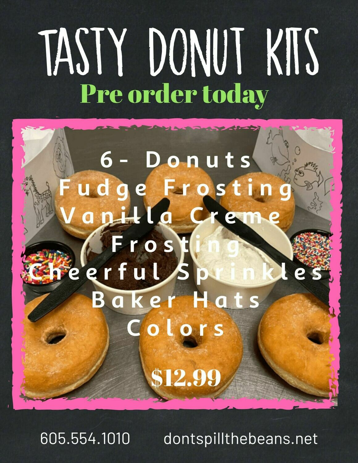 Tasty Donut Kits - available for pickup after 11 am