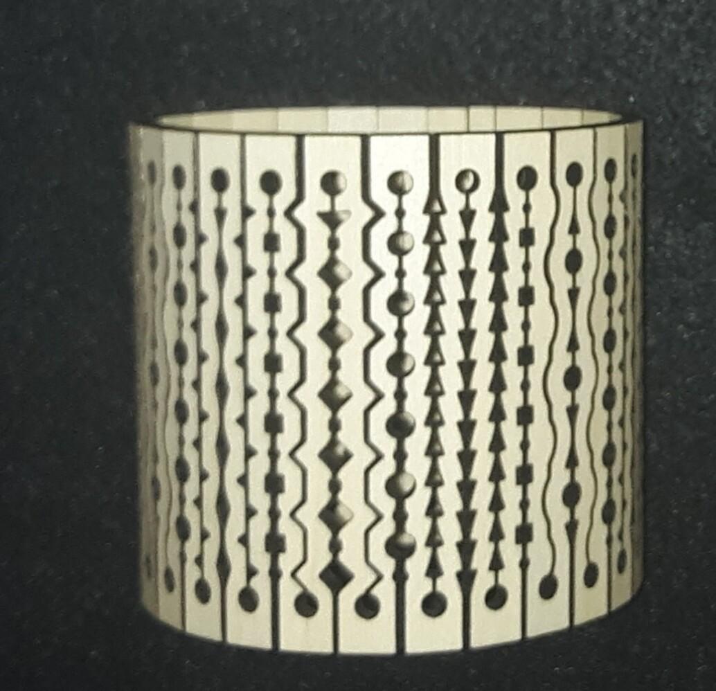 Living Hinge Wooden Cuff Bracelet 3