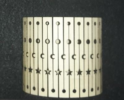 Living Hinge Wooden Cuff Bracelet 1