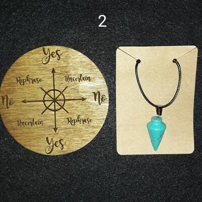 Mini Pendulum Board & Pendulum Pendant Necklace Set