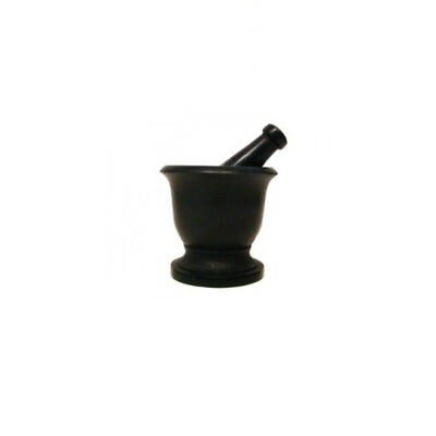 Black Soapstone Mortar & Pestle