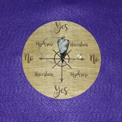 Medium Pendulum Board & Moonstone Pendulum Set