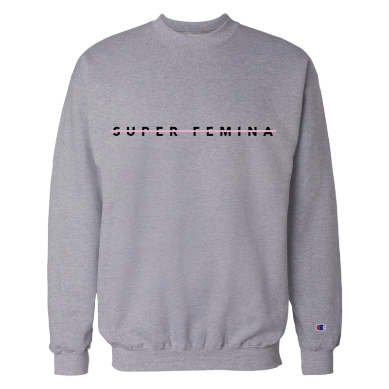 Super Femina Gray w/ Pink Strike Champion® Crewneck