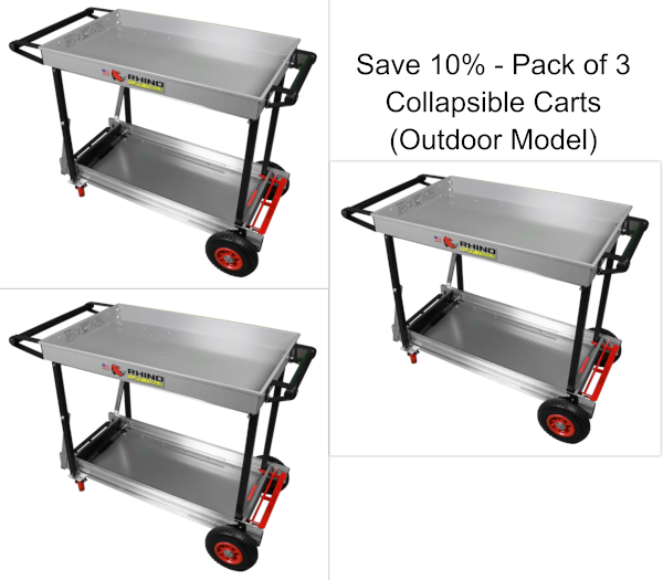 Collapsible Cart (Outdoor Model) (Pack of 3) (Save 10%)