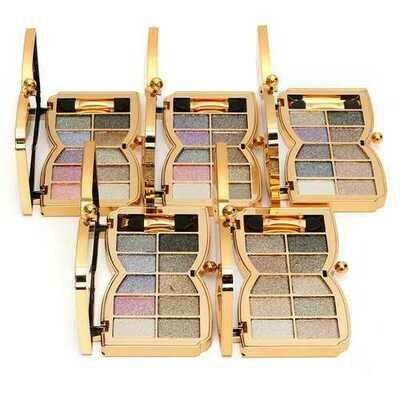 10 Colors Diamond Shiny Shimmer Eyeshadow Palette Mirror Brush Eye Makeup Comestic
