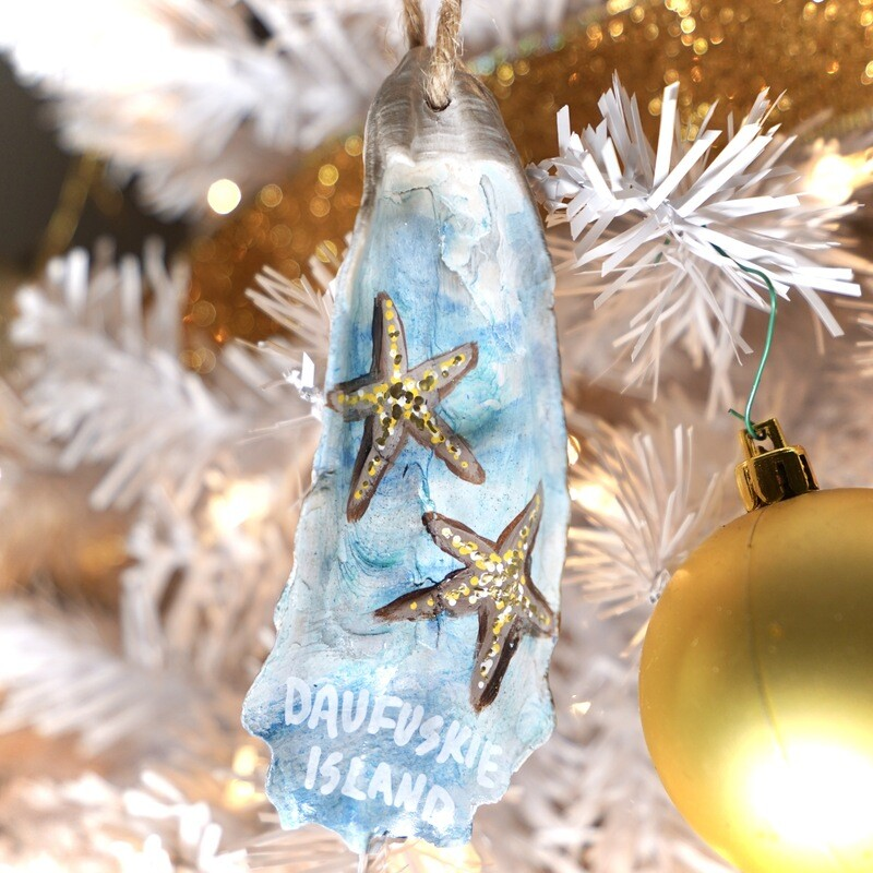 Daufuskie Island Christmas Oyster Ornament