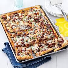 Buffalo, Bacon Ranch Chicken Pizza