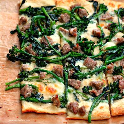 Broccoli Rabe & Sausage Pizza