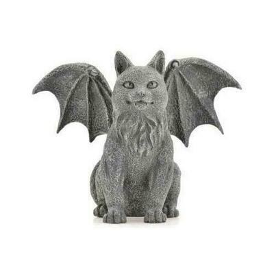 Winged Cat Gargoyle 6 1/2