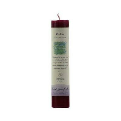 Wisdom reiki charged pillar candle