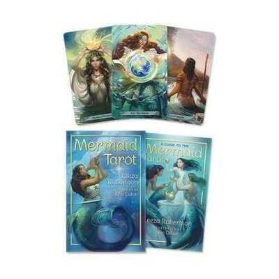 Mermaid tarot deck & book by Leeza Robertson