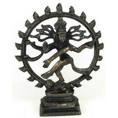 Antiqued Bronze Shiva Dancing Statue