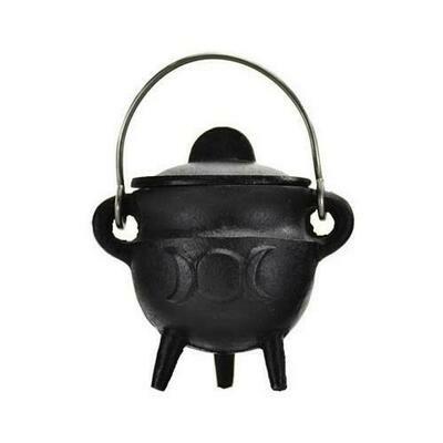 Triple Moon cast iron cauldron w/ lid 2 3/4
