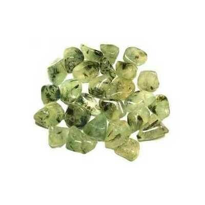 1 lb Prehnite w Epidote tumbled stones