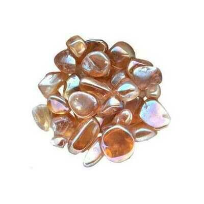 1 lb Gold AB electroplated tumbled stones