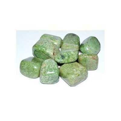 1 lb Grossularite (green garnet) tumbled stones