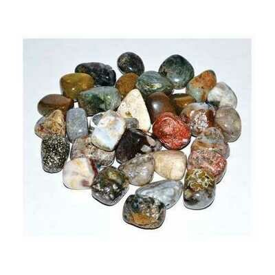 1 lb Jasper, Ocean tumbled stones