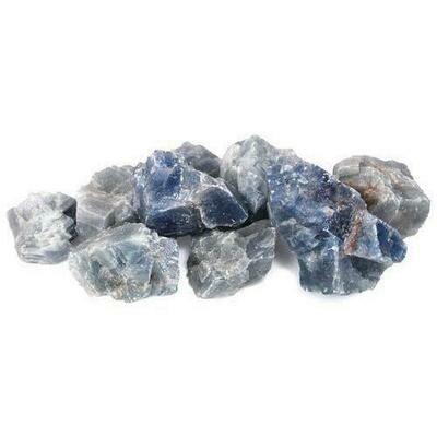 1 lb Blue Calcite untumbled stones