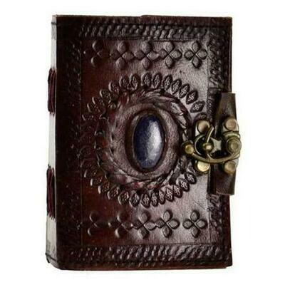 Stone Eye leather blank book w/ latch