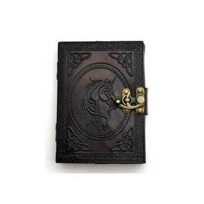 Unicorn leather blank book w/ latch