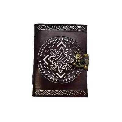 Celtic Knot (die cut) leather blank book w/ latch