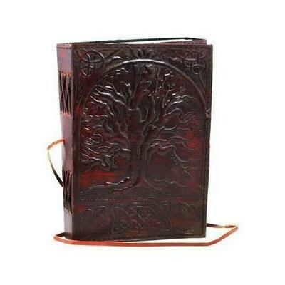 Sacred Oak Tree leather blank book w/ cord