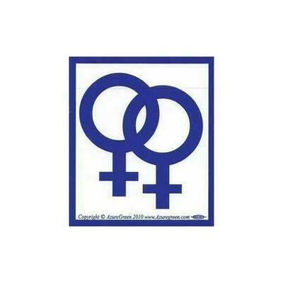 Female/Female bumper sticker