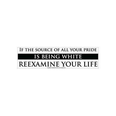 If the Source of All your Pride is Being White Reexamine Your Life