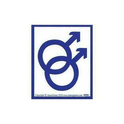 Male/Male bumper sticker