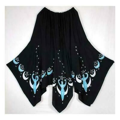 Moon Goddess Long Skirt black