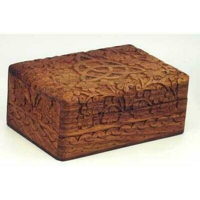 Triquetra Wooden Carved Box