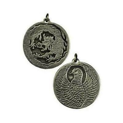 Dragon and Phoenix amulet